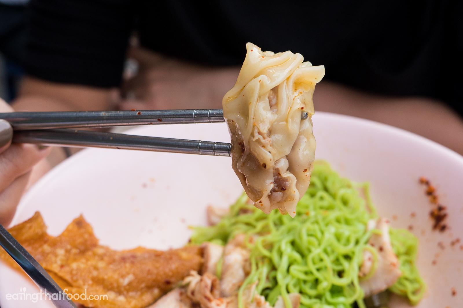 Thai egg noodles and dumplings