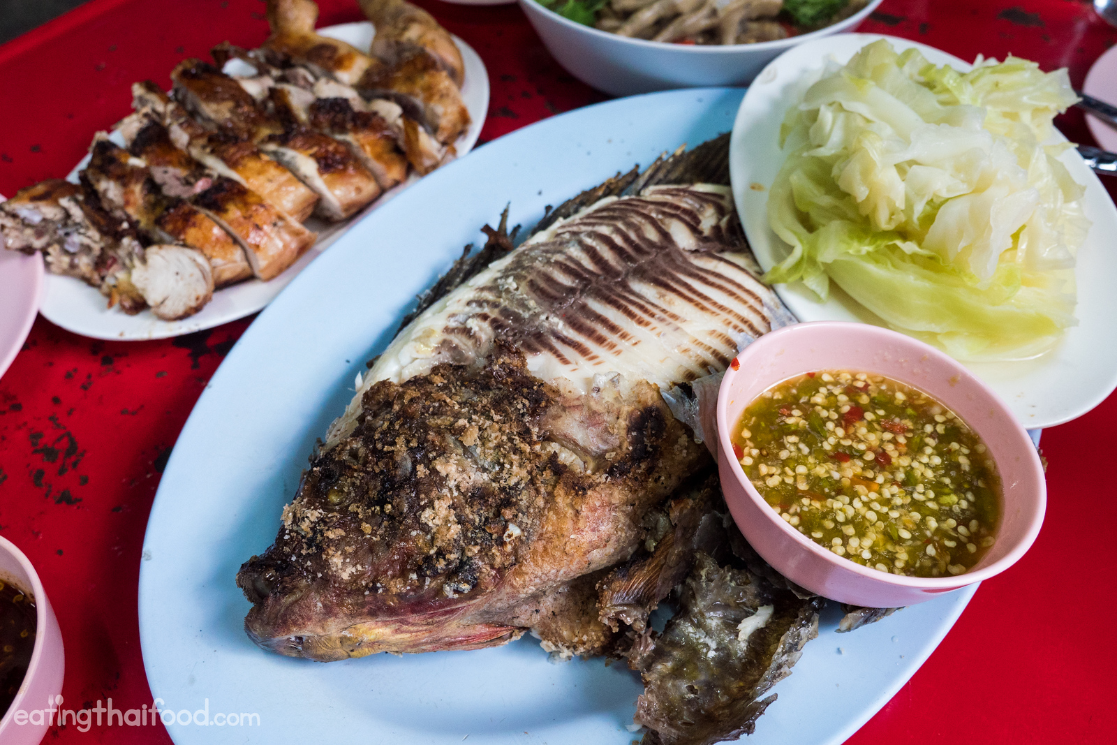 Thai grilled fish in Bangkok