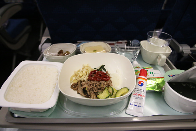 Bibimbap on Korean Air