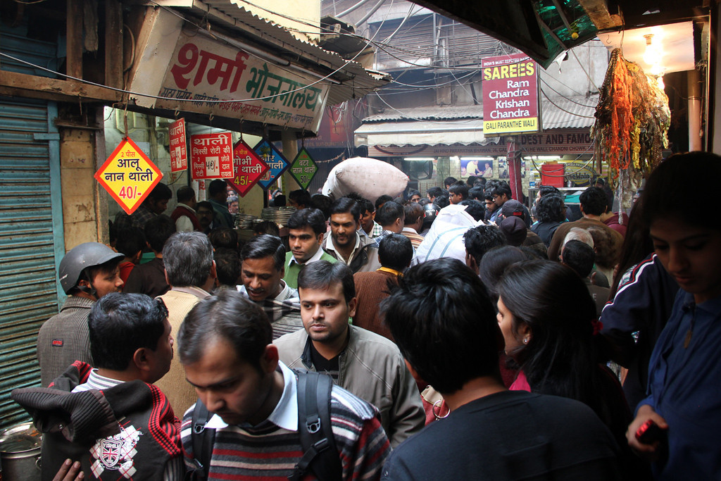 Busy lanes of Old Dehli