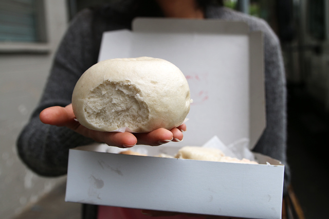 Big, fluffy, and packed with meat - Hawaiian style char siu bao