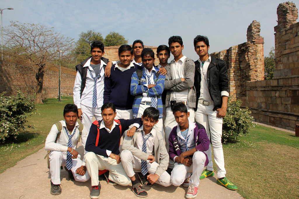 Students smiling for a photo