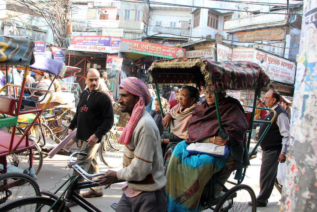 Getting around in a rickshaw