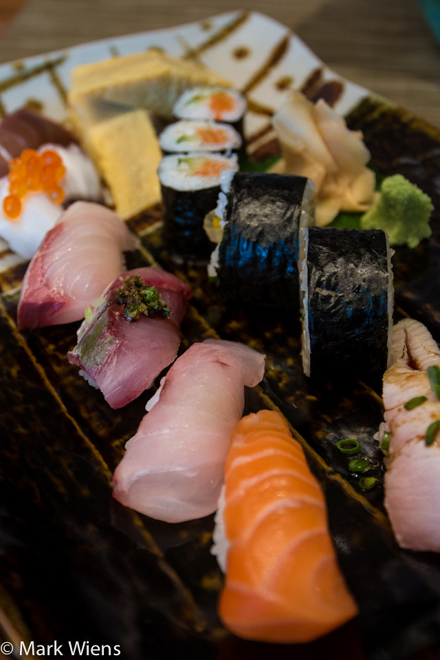 Sushi lunch special in Bangkok