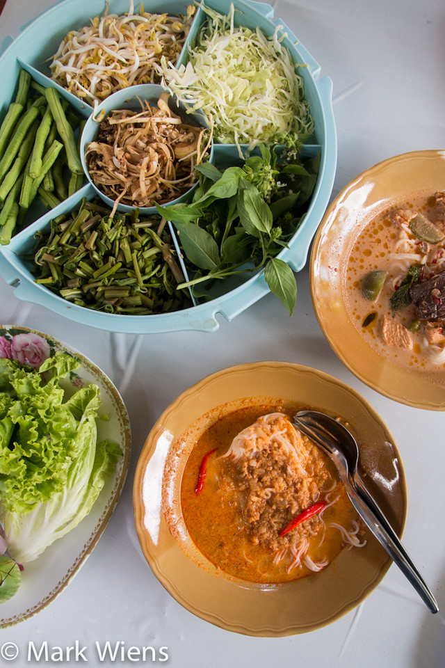 kanom jeen curry in Thailand