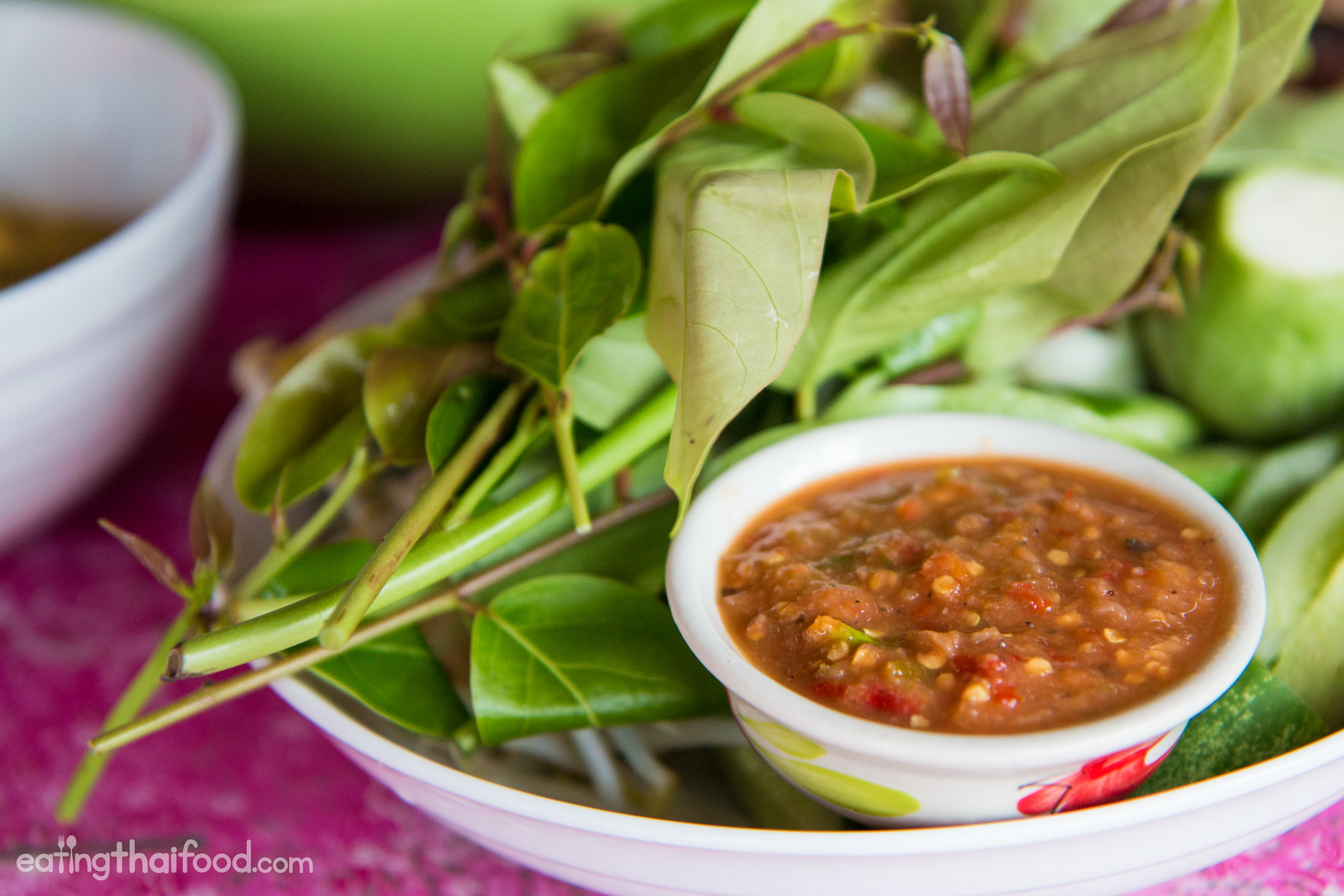 Thai chili dip and vegetables