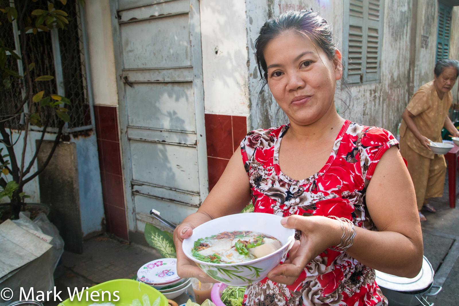 Saigon street food bun moc