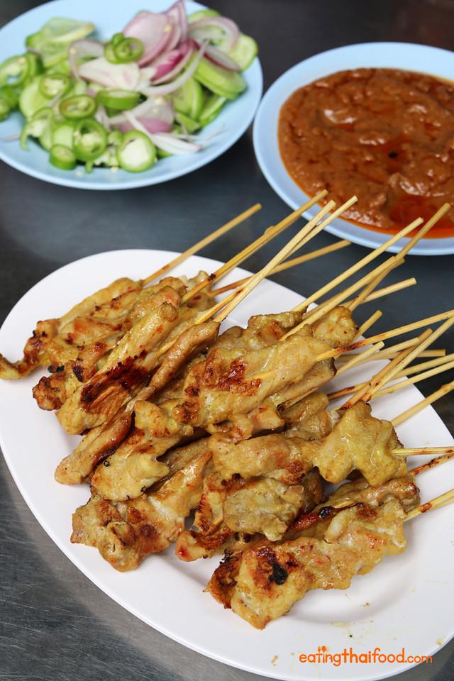 Thai satay at Dee Moo Satay (ตี๋หมูสะเต๊ะ)