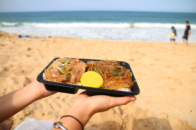 Beach and lunch