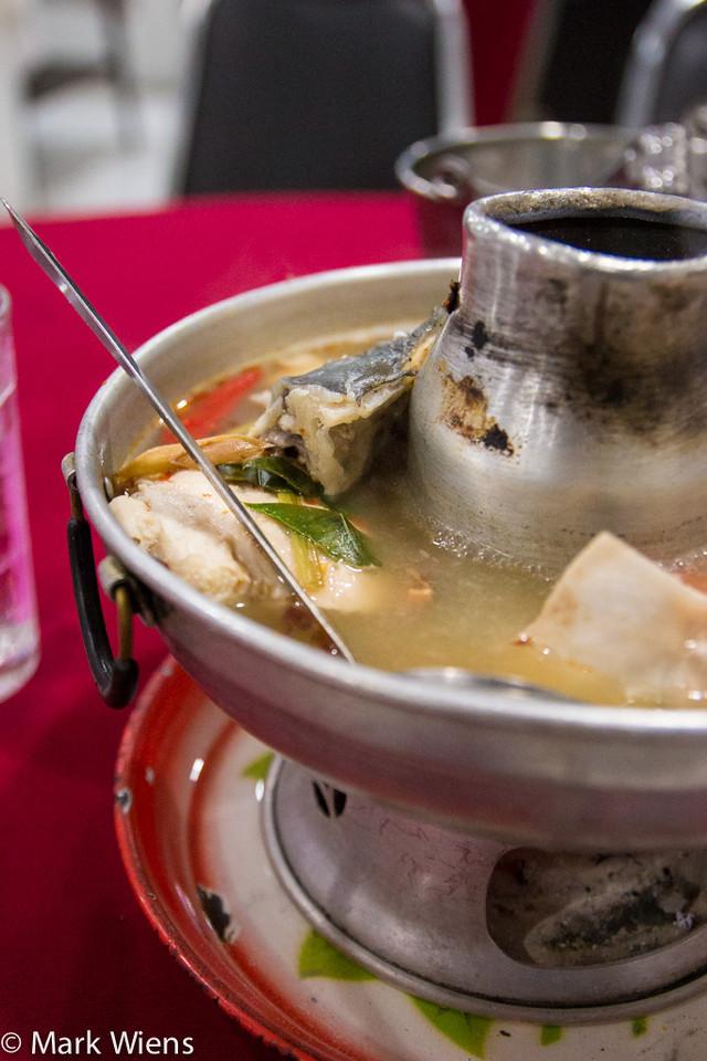 ต้มยำปลาจีนหม้อไฟ