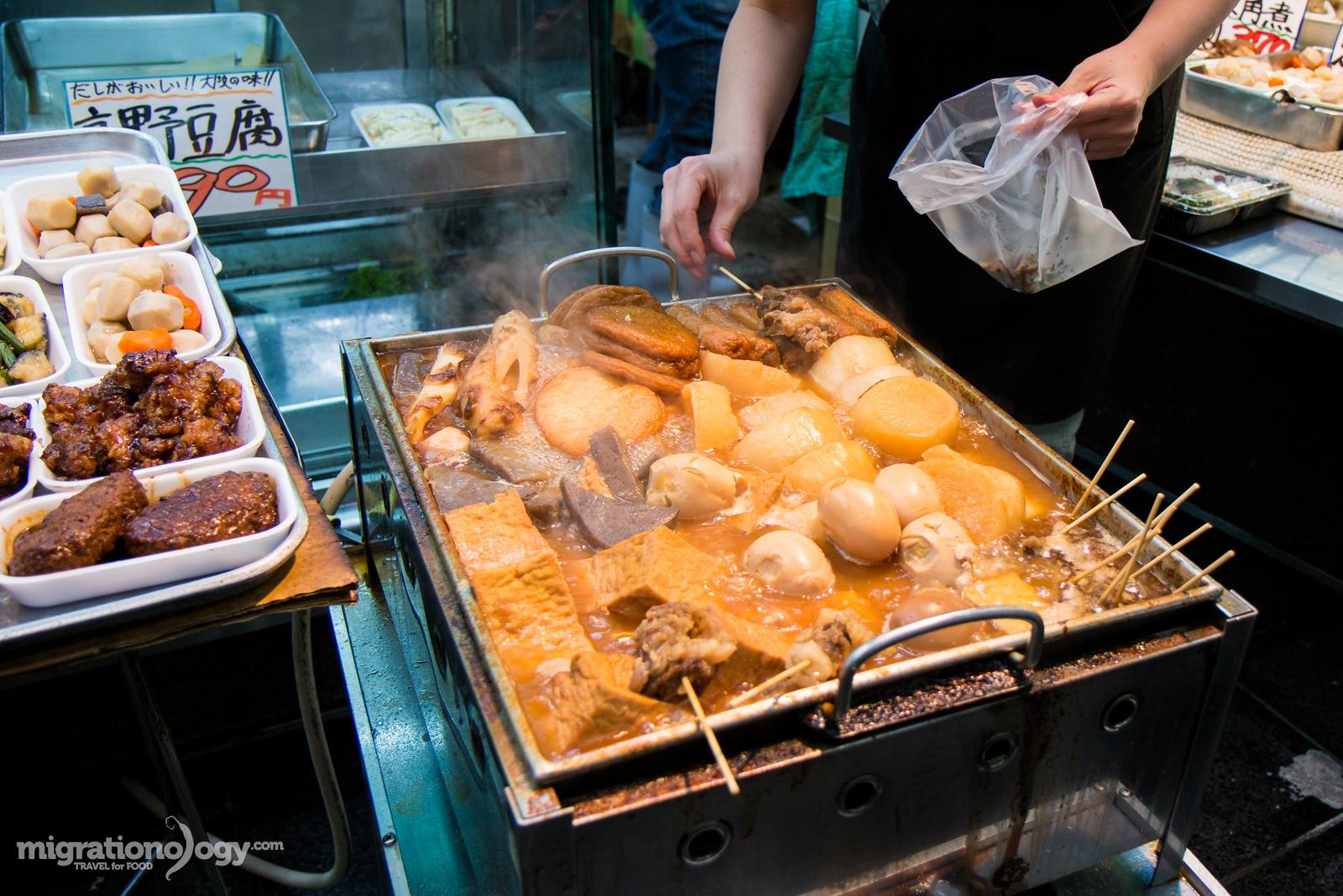 Japanese oden at Kuromon Ichiba Market