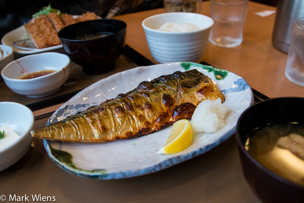 3cb0753f722d Saba mackerel set at a neighborhood restaurant in Tokyo