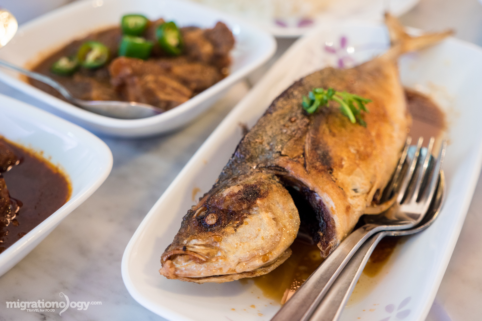 Sambal stuffed fried fish