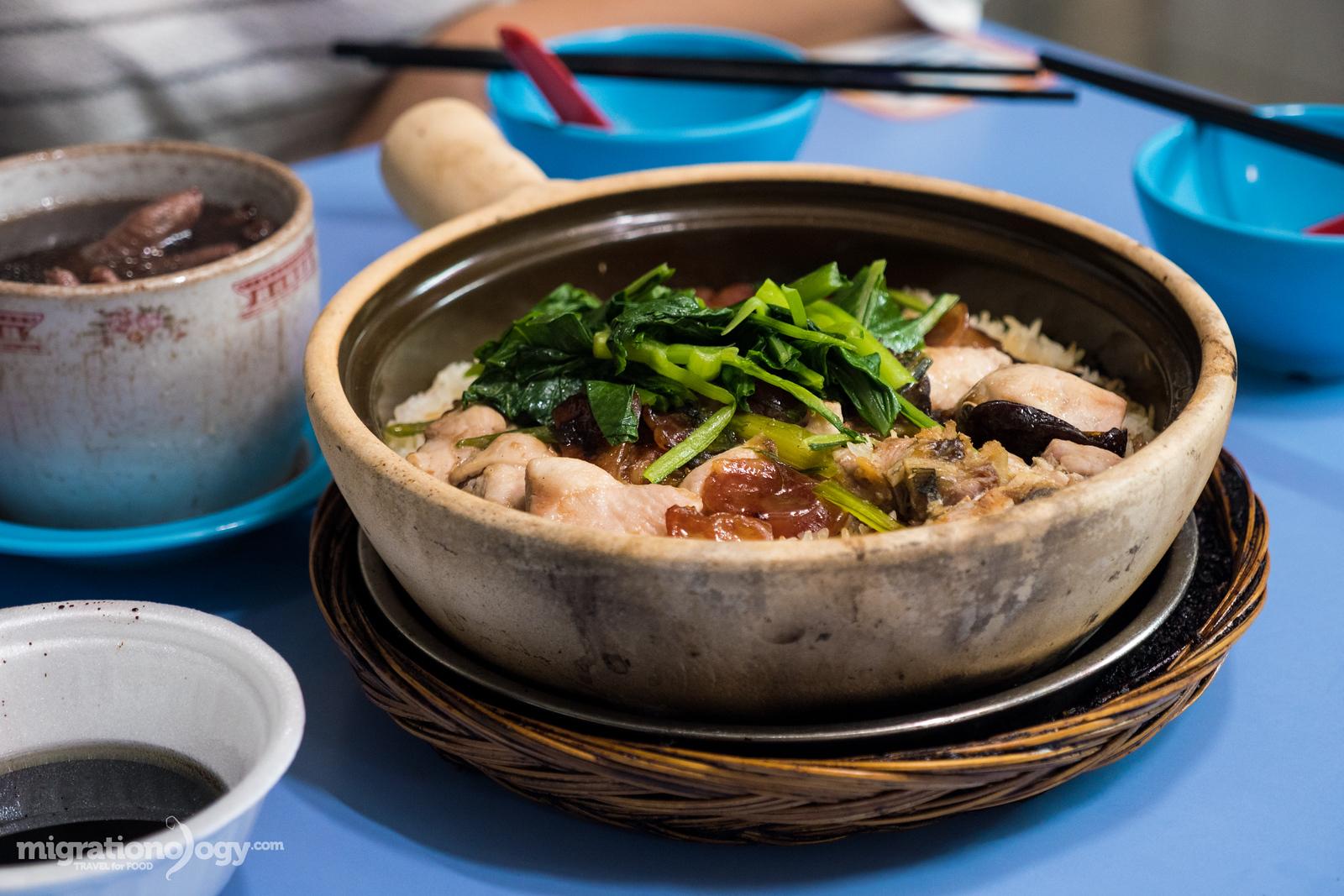 Singapore claypot rice