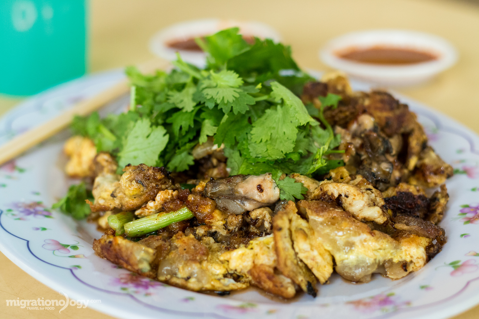 Oyster omelette (Orh Luak)