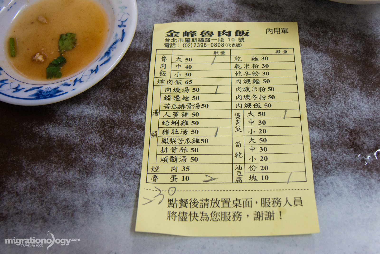 Jin Feng (金峰魯肉飯) restaurant