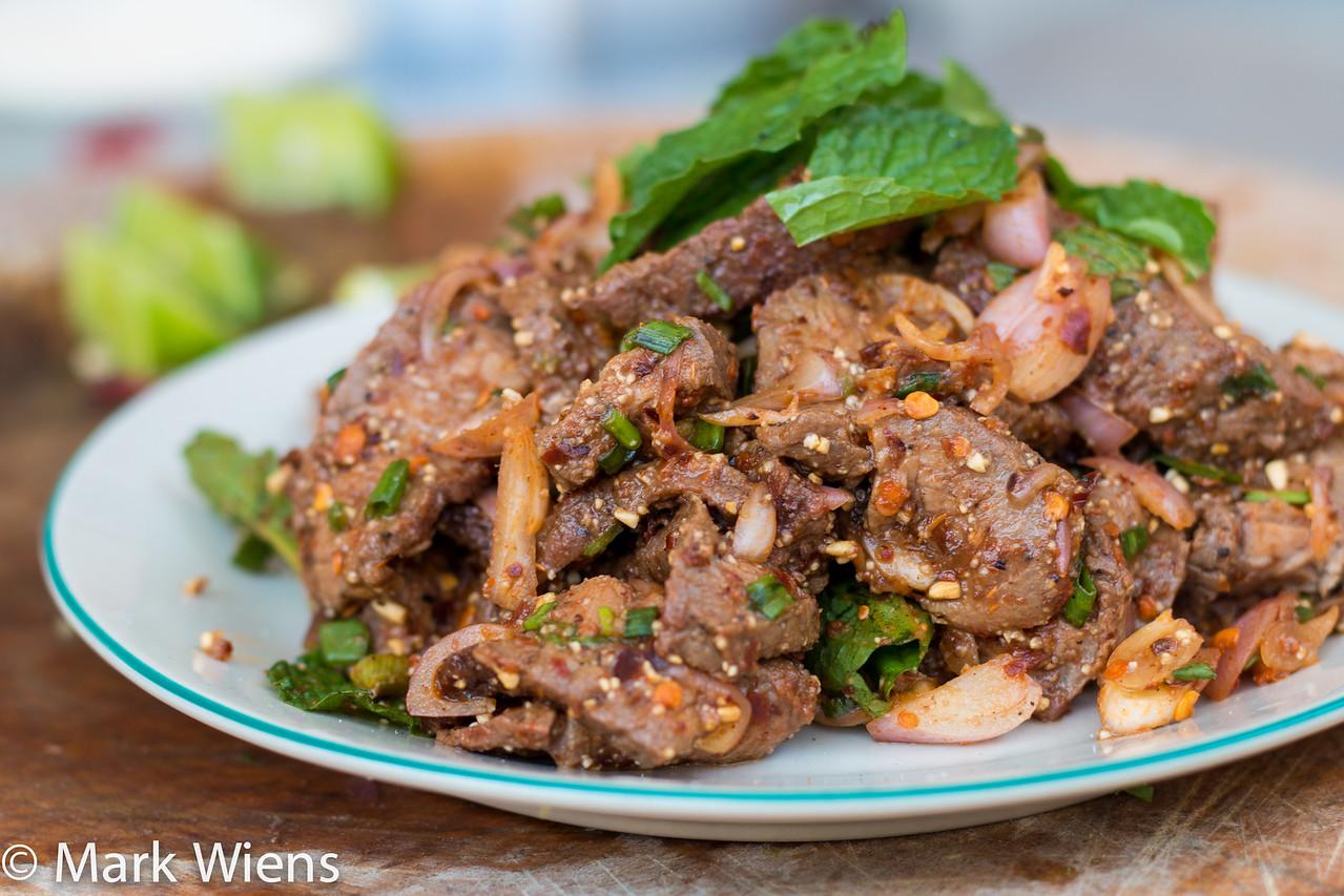 Nam Tok Recipe (วิธีทำ น้ำตกเนื้อ)