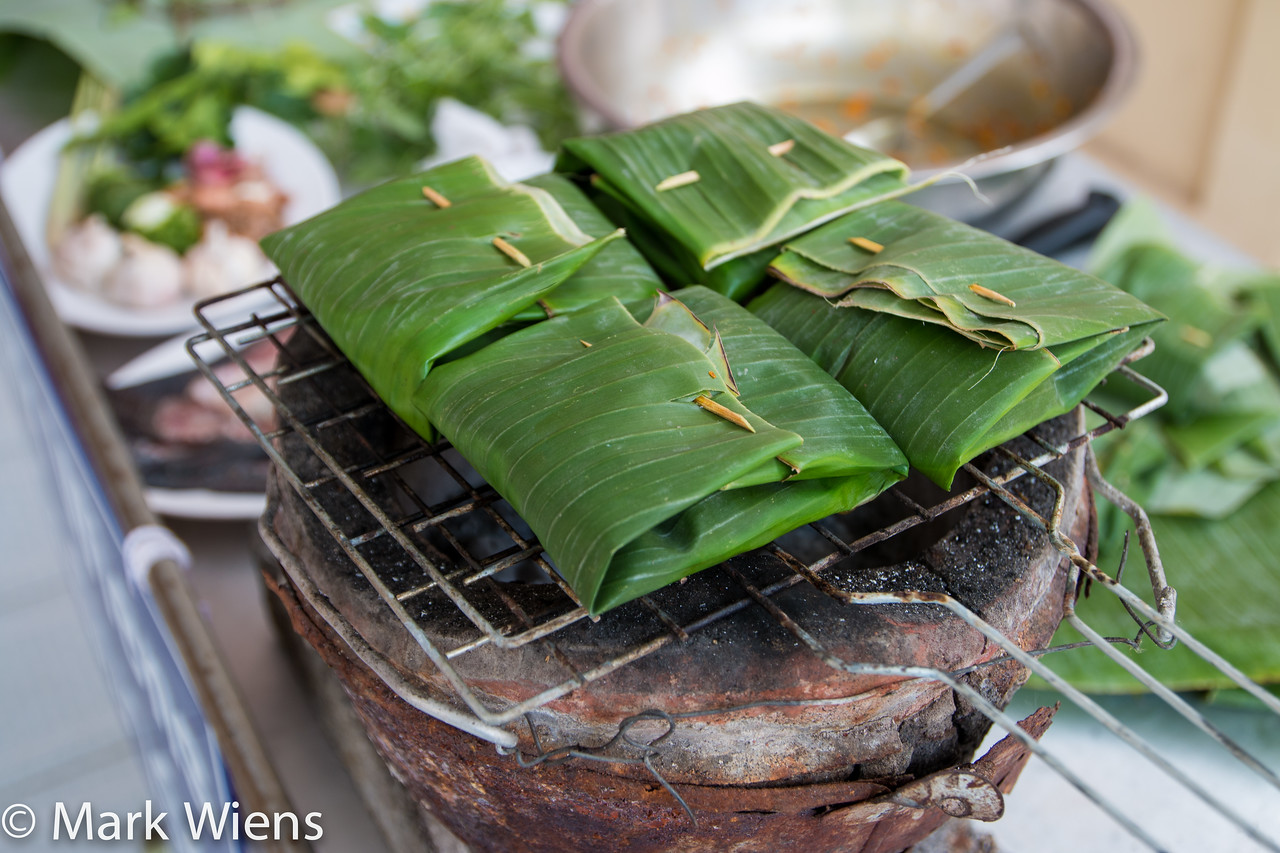 Cooking in banana leaves